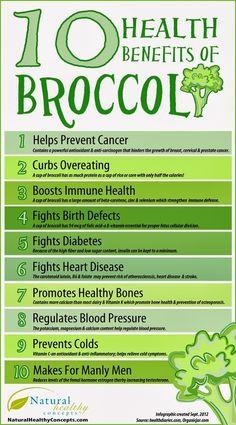 10 Health Benefits of Broccoli #cancer