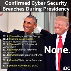 Cyber Security breaches under obama Political Topics, Political Memes, Political Freedom, Freedom Love, Trump Is My President, Donald Trump Jr, Conservative Politics, Past Life, We The People