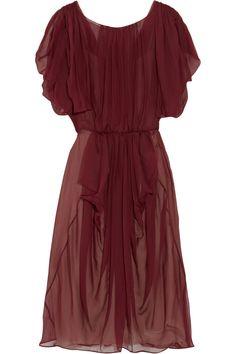 Vionnet Asymmetric draped silk-chiffon dress