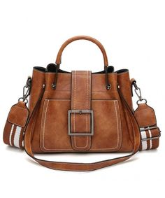 Kimloog Women s PU Leather Shoulder Cross Body Bags Multi Purpose Retro  Tote Handbags - Brown - CX18H3AT3R3 0fddcabc65486