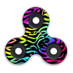 SPINNERS squad fidget toys Rainbow Zebra