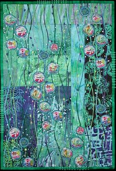 """Rising to the Occasion by Larkin Jean Van Horn, From the Individual Art Quilts Gallery, 16½ x 24"""""""
