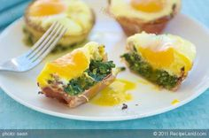Creative presentation and tastes so good! We like to make these for a St. Patrick's Day breakfast to add a bit of Irish green to the plate.