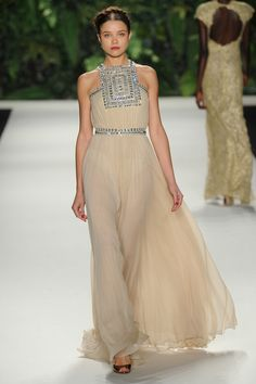 Naeem Khan | Spring 2014 Ready-to-Wear Collection | Style.com - fabric, color, neckline