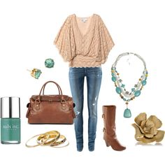 outfit ~ don't love the jeans. with classic jean trousers this would be perfect for me.