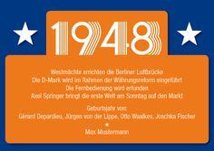 Einladungskarte zum 70. Geburtstag: 1948 Ereignisse ............ **So funktioniert die Bestellung:** Lege einfach die gewünschte Karte in den Warenkorb. Im Warenkorb gibt es ein...