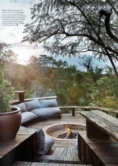 Cozy Backyard and Garden Seating Ideas for Summer 40 Outdoor Fire, Outdoor Living, Cozy Backyard, Hot Tub Backyard, Backyard Patio Designs, Outdoor Spaces, Outdoor Decor, Outdoor Seating, Garden Seating