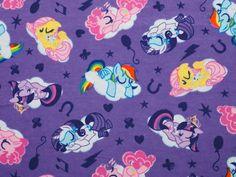 Kinderstoffe - Mein kleines Pony, Flanell, Stoff - ein Designerstück von ABC-Designerin bei DaWanda