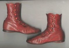 Antique Victorian childrens leather shoes