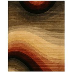 Add a graphic design element to any room in your home with this contemporary hand-tufted wool rug from Desertland. A perfect mix of strong and soft, the 100 percent wool construction is plush, while the multicolored abstract pattern is bold.