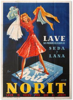 Primer cartell de Norit. 1945. Pere Clapera (1906-1984). Litografia. Donació de Marga Domingo Roget; Urbana, SA