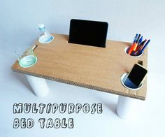 DIY Multipurpose Bed Table for a tablet or laptop