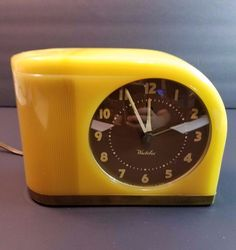 Vintage Heco Wind Up Alarm Clock West Germany Brass Bell