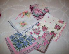 Handkerchiefs - Vintage - Group of five