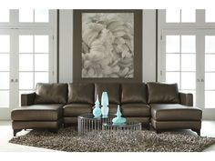 American Leather Living Room Kendall-Sectional - Gorman's - Metro Detroit and Grand Rapids, MI