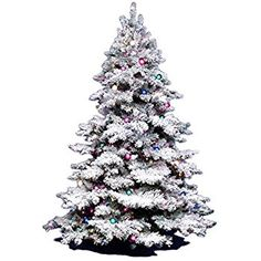 Amazon.com: Vickerman Flocked Alaskan Pine Tree with 1045 Tip, 6.5-Feet by 62-Inch: Home & Kitchen