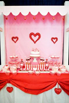 Really cute Valentine party.