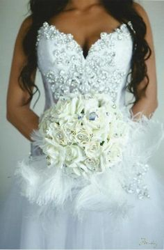 Pnina Tornai Custom Lace & Swarovski Crystal Gown Wedding Dress $4500.00  ~ Hustle Your Bustle