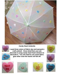 Candy Heart Umbrella
