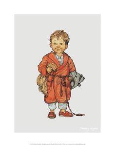 Bedtime - Alfie Illustrated Print Art Print by Shirley Hughes at Art.co.uk
