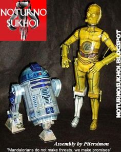 * Free 3D Paper Model * : Star Wars - C-3PO & R2-D2 Paper Models - by Noturno Sukhoi at Papermau