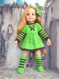 Вязаная одежда на кукол Gotz / Одежда для кукол / Шопик. Продать купить куклу / Бэйбики. Куклы фото. Одежда для кукол