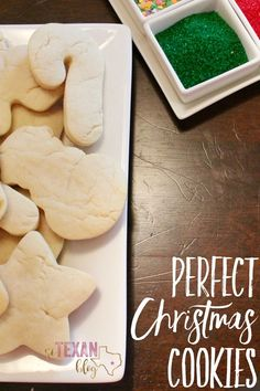 Dairy-Free Sugar Cookies that hold their shape-- perfect for Christmas cookies to send to our troops!