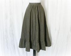 Vintage 70s Prairie Skirt S Chevron Striped at PopFizzVintage, $39.00