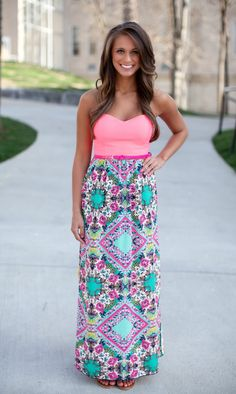 The Pink Lily Boutique - Living It Up Maxi, $42.00 (http://thepinklilyboutique.com/living-it-up-maxi/)
