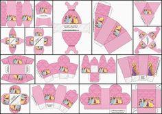 Princesas Disney: Cajas para Imprimir Gratis.