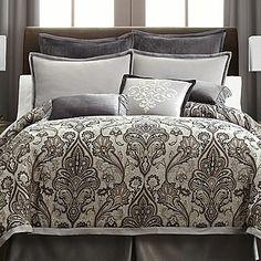 Royal Velvet Lourdes Gray Comforter Set & Accessories - jcpenney