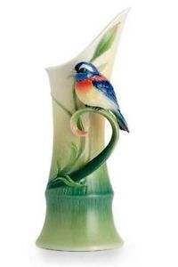 FRANZ FINE PORCELAIN SCULPTURED PEACE & HARMONY BAMBOO MID SIZE VASE, NEW | eBay