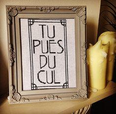 PATTERN French You Smell Like A Cross Stitch by TheBohoStitcher