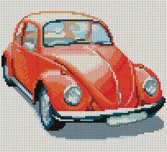 Скачайте схемы Картина «WV Beetle», вид рукоделия Вышивка крестом - Валентина.ру