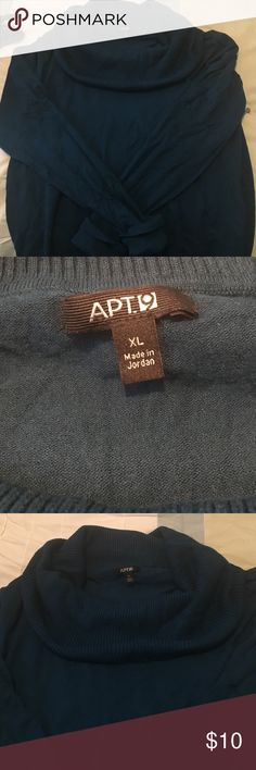 Apt 9 women's sweater ! Dark blue Apt 9 women's sweater with cowl neck and cuffed sleeves . Very comfortable , not skin tight . Size XL Apt. 9 Sweaters Cowl & Turtlenecks