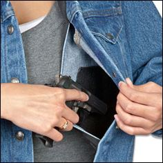 Women's Concealed Carry Denim Jacket - This would be easy enough to modify in a normal jacket