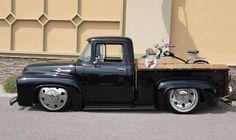 1956 Ford F100 Fire Chief Gasoline Bagged Trucks, Lowered Trucks, Dually Trucks, Big Rig Trucks, Hot Rod Trucks, Cool Trucks, Cool Cars, 1956 Ford Truck, F100 Truck