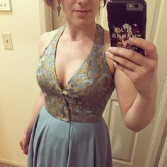 It's a dress! Still quite a lot of finishing to do on the bodice, and the…