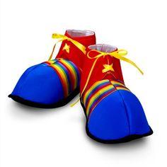 Jumbo Clown Shoes Rainbow Stripes Halloween Costume - http://www.specialdaysgift.com/jumbo-clown-shoes-rainbow-stripes-halloween-costume/