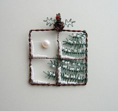 Midwinter pendant (sold) by Louise Goodchild, via Flickr