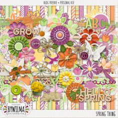 Quality DigiScrap Freebies: Spring Thing full kit freebie from DigiDesigned ByWilma