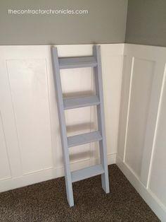 Easy One Hour Rustic Blanket Ladder (18) copy