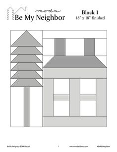 This is Block #1 of Moda's Be My Neighbor Block of the Week.