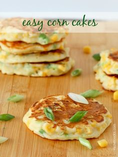 Savory Corn Cakes on RachelCooks.com