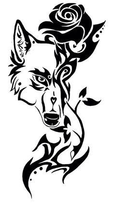 Wolf/rose