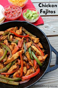 Chicken Fajitas are a quick and easy flavorful dinner that everyone will love!