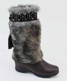 Look at this Summer Rio Brown Faux Fur Boot on #zulily today!