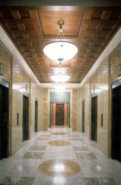THE HUMANA BUILDING  1985 Louisville, KY, United States Commercial Interior Design, Commercial Interiors, Michael Graves, Postmodernism, Architecture Design, Building, Aesthetics, United States, Rooms