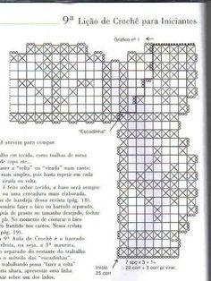 crochet - bicos/barrados com cantos - corners