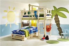 Cheerful and Fascinating Bunk Bed Design Ideas | Interior Decorating House
